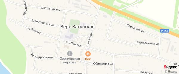 Улица Мира на карте Верха-Катунского села с номерами домов
