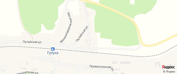 2-я Путейская улица на карте станции Голухи с номерами домов