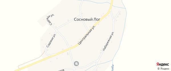 Центральная улица на карте села Соснового Лога с номерами домов