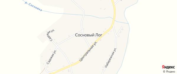 Набережная улица на карте села Соснового Лога с номерами домов
