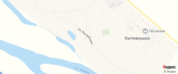 Улица Республики на карте поселка Кытманушки с номерами домов