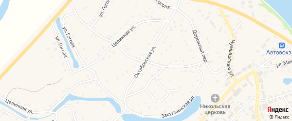 Октябрьская улица на карте села Кытманово с номерами домов