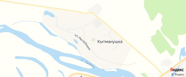 Карта поселка Кытманушки в Алтайском крае с улицами и номерами домов