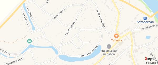 Закурьинская улица на карте села Кытманово с номерами домов