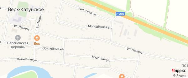 Улица Ленина на карте Верха-Катунского села с номерами домов