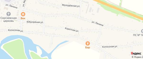 Короткая улица на карте Верха-Катунского села с номерами домов
