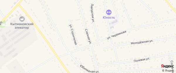 Степная улица на карте села Кытманово с номерами домов