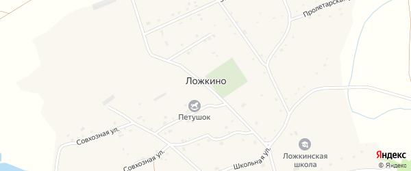 Совхозная улица на карте села Ложкино с номерами домов