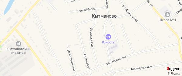 Заводская улица на карте села Кытманово с номерами домов
