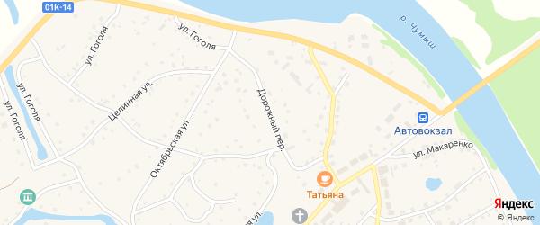 Дорожный переулок на карте села Кытманово с номерами домов