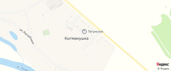 Заречная улица на карте поселка Кытманушки с номерами домов
