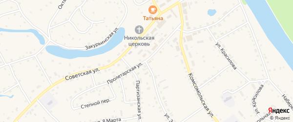 Пролетарская улица на карте села Кытманово с номерами домов