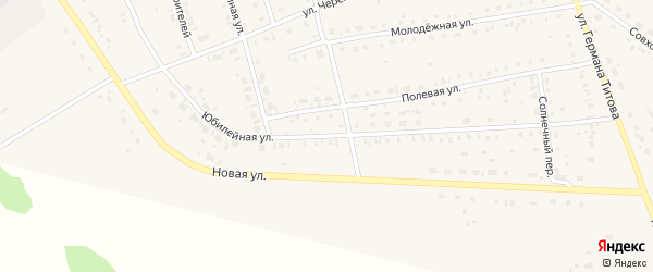 Юбилейная улица на карте села Кытманово с номерами домов