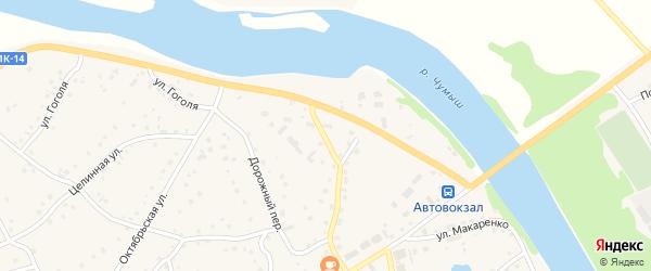 Песчаный переулок на карте села Кытманово с номерами домов