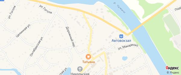 Чумышская улица на карте села Кытманово с номерами домов