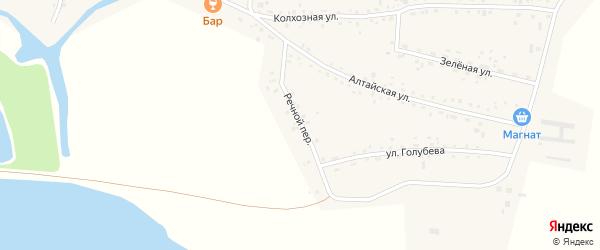 Речной переулок на карте Верха-Катунского села с номерами домов