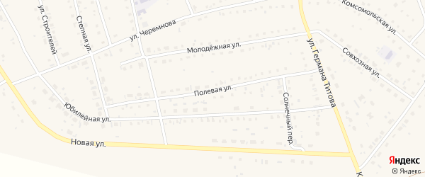 Полевая улица на карте села Кытманово с номерами домов