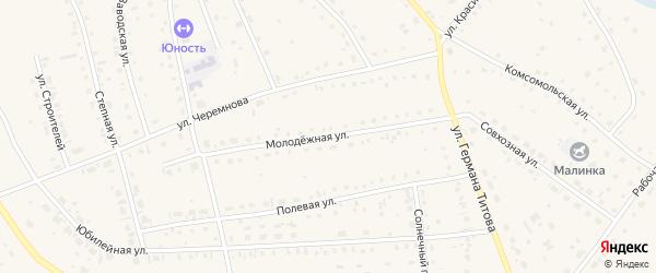 Молодежная улица на карте села Кытманово с номерами домов