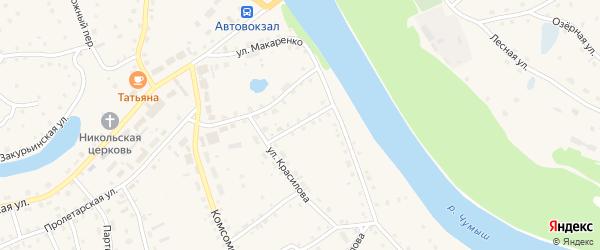 Садовый переулок на карте села Кытманово с номерами домов