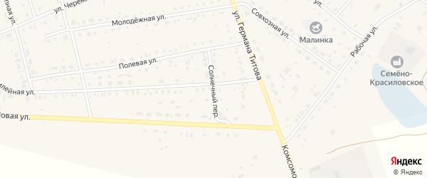 Солнечный переулок на карте села Кытманово с номерами домов