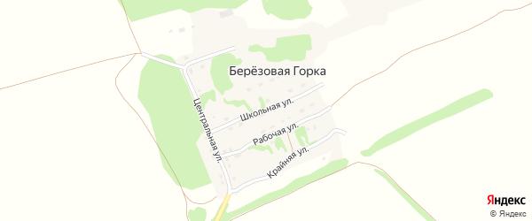 Школьная улица на карте поселка Березовой Горки с номерами домов