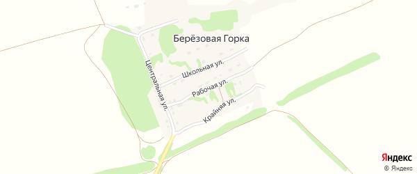 Рабочая улица на карте поселка Березовой Горки с номерами домов