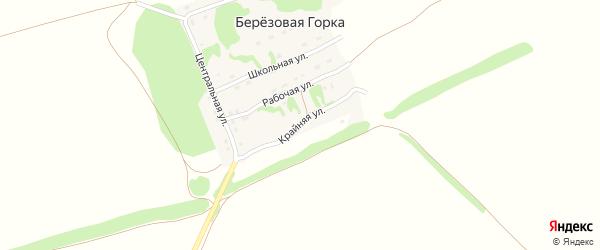 Крайняя улица на карте поселка Березовой Горки с номерами домов
