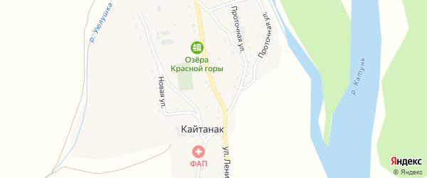 Улица Ленина на карте села Кайтанака с номерами домов