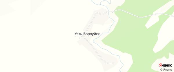 Карта поселка Усть-Бороуйска в Алтайском крае с улицами и номерами домов