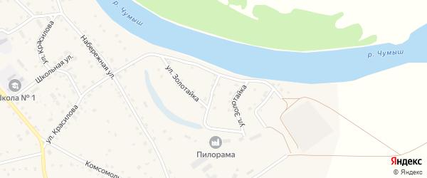 Улица Золотайка на карте села Кытманово с номерами домов