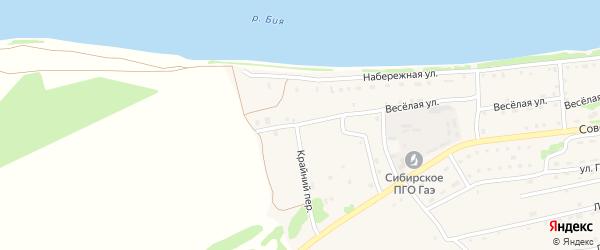 Крайний переулок на карте Малоенисейского села с номерами домов
