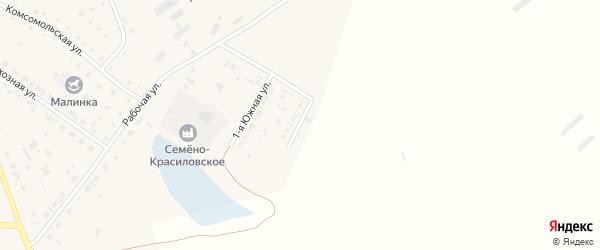 Южная 2-я улица на карте села Кытманово с номерами домов