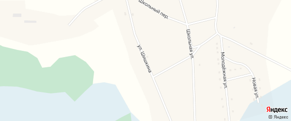 Улица Шишкина на карте села Тяхты с номерами домов