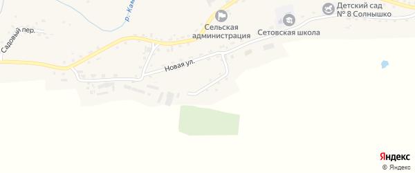 Пожарный переулок на карте села Сетовки с номерами домов