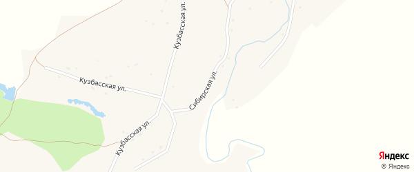 Сибирская улица на карте села Марушки с номерами домов