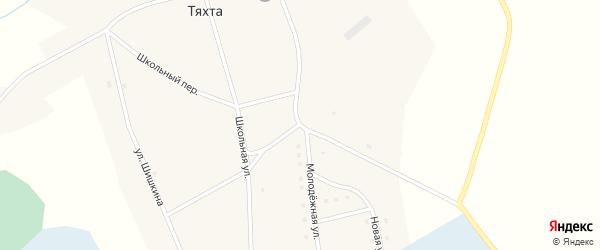 Молодежная улица на карте села Тяхты с номерами домов