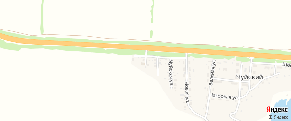 Крайняя улица на карте Чуйского поселка с номерами домов