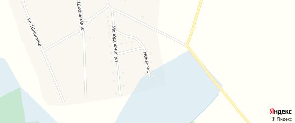 Новая улица на карте села Тяхты с номерами домов