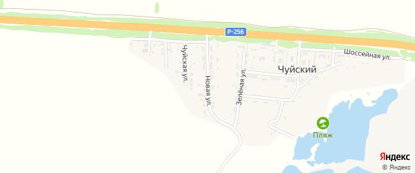 Новая улица на карте Чуйского поселка с номерами домов