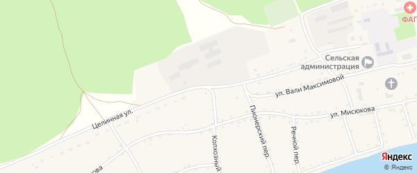 Юбилейная улица на карте Енисейского села с номерами домов