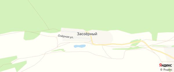 Карта Заозерного поселка в Алтайском крае с улицами и номерами домов