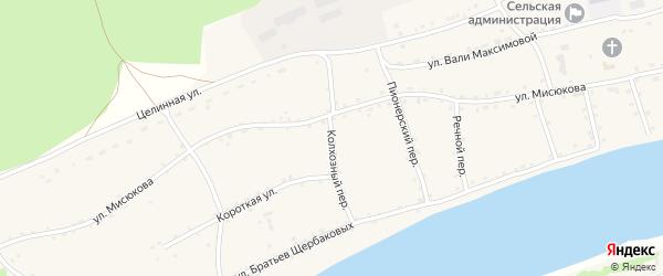 Колхозный переулок на карте Енисейского села с номерами домов