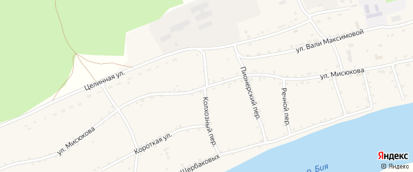Улица Мисюкова на карте Енисейского села с номерами домов