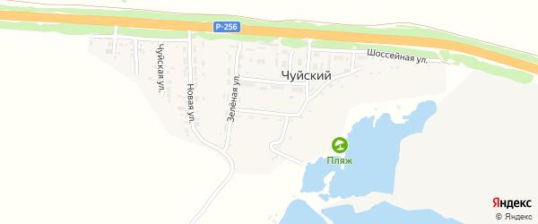 Нагорная улица на карте Чуйского поселка с номерами домов