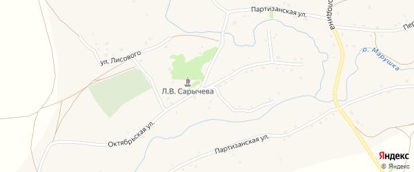 Октябрьская улица на карте села Марушки с номерами домов
