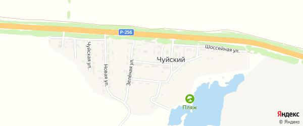 Центральная улица на карте Чуйского поселка с номерами домов