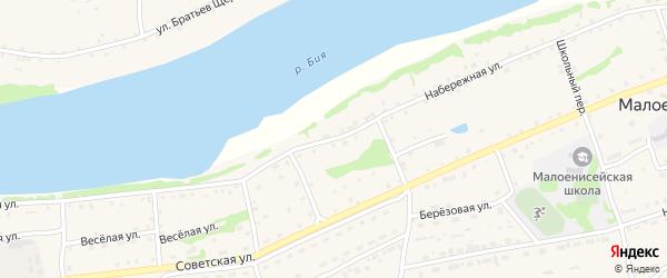Набережная улица на карте Прибрежного садового некоммерческого товарищества с номерами домов