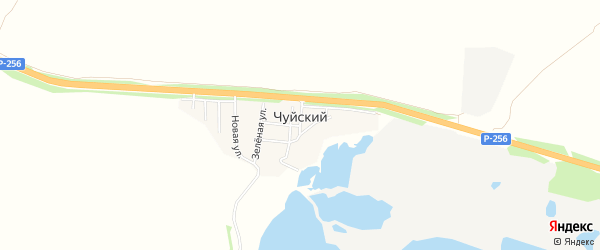 Карта Чуйского поселка в Алтайском крае с улицами и номерами домов