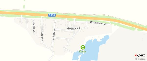 Огородная улица на карте Чуйского поселка с номерами домов