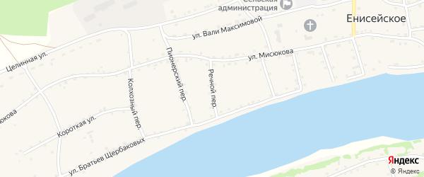 Речной переулок на карте Енисейского села с номерами домов